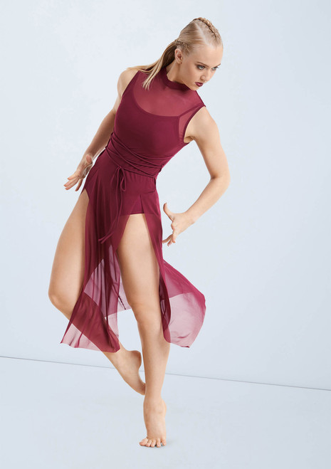 Weissman Midi Overdress With Laces