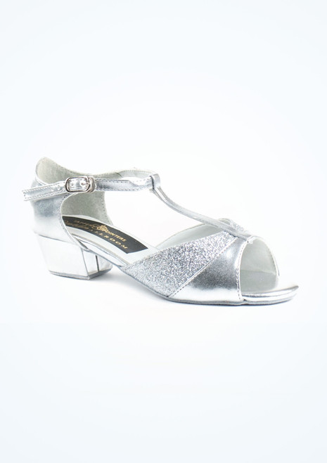 Tappers & Pointers Amber Standard-Tanzschuh 3cm Silber. [Silber]