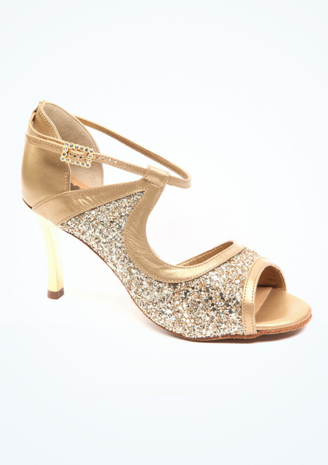 PortDance Tango- & Salsaschuh Orchid 7cm Gold. [Gold]