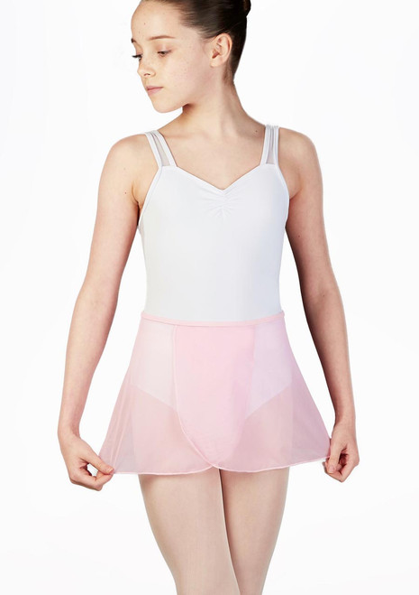 So Danca Ballett-Wickelrock aus Mesh Rosa. [Rosa]