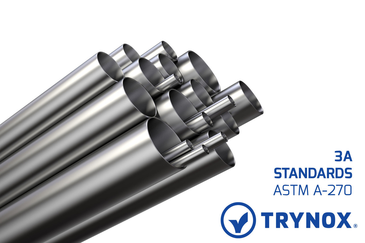 Trynox Sanitary Stainless Steel Tubing ASTM A-270 3A Standards