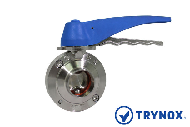 Trynox Sanitary Butterfly Valve DIN Welding Ends