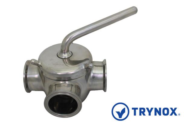 Trynox Sanitary Plug Valve Clamp Ends