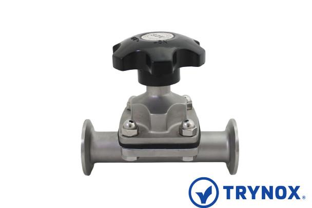 Trynox Sanitary Diaphragm Shutoff Valve Clamp Ends
