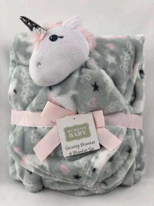 unicorn baby blanket set