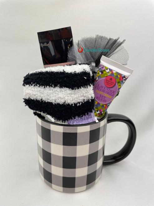 black and white gift mug