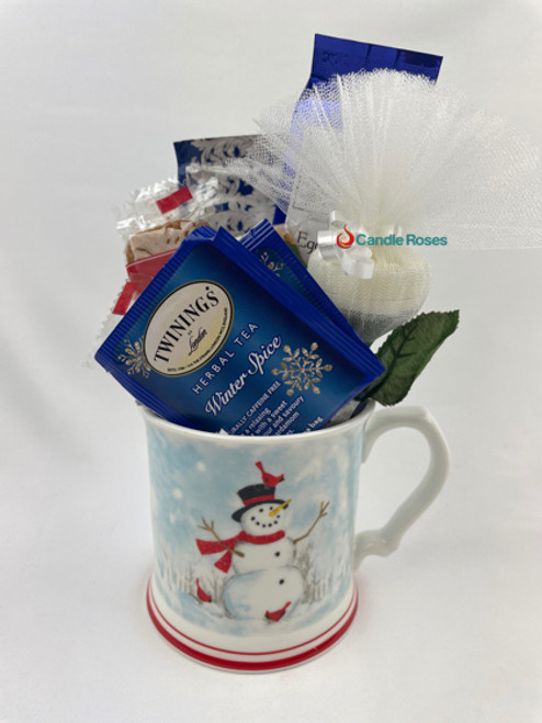 snowman gift mug set