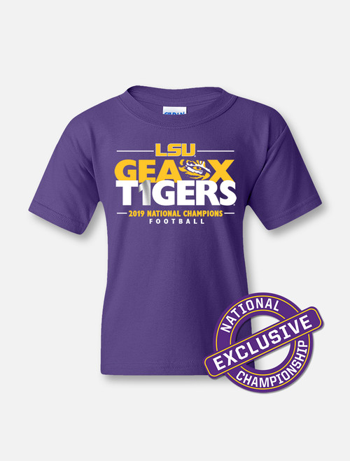 "LSU National Champion ""Locker Room"" YOUTH T-shirt In  Purple"