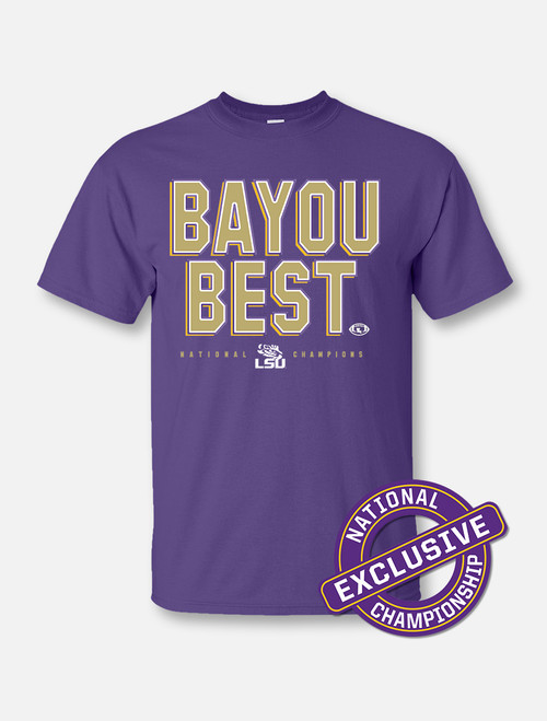 "LSU National Champion ""Bayou Best"" T-Shirt In Purple"