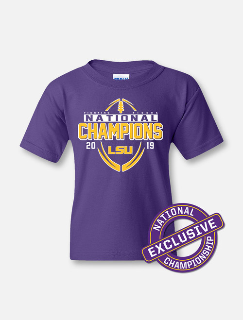 "LSU National Champion ""Championship Drive"" YOUTH T-shirt In  Purple"
