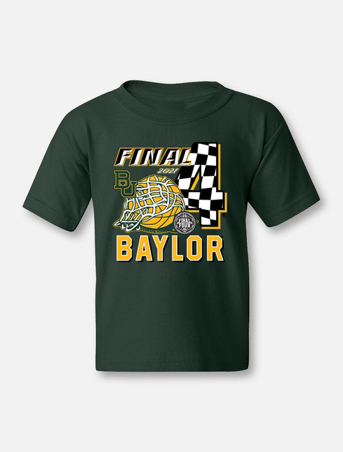 "Baylor Bears Final Four ""Racing To Indy"" YOUTH Green T-shirt"