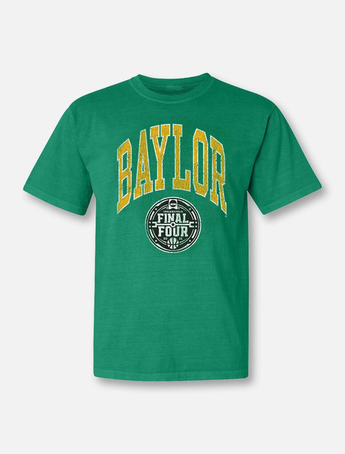 "Baylor Bears Final Four ""Big Fan"" Comfort Colors Green T-shirt"