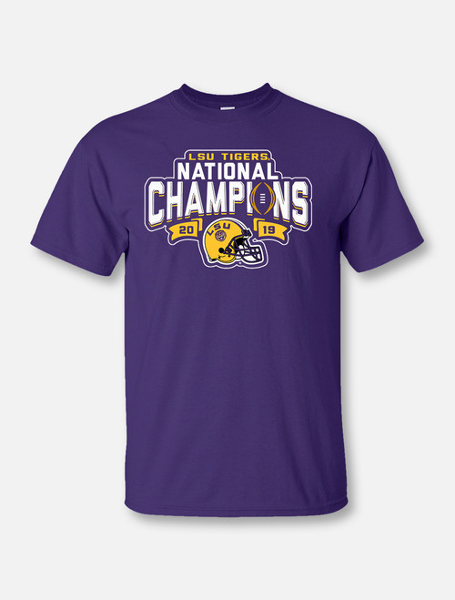 "LSU National Champion ""Give Notice"" T-Shirt In Purple"