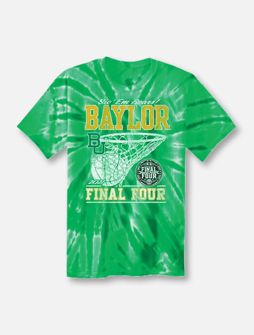 "Baylor Bears Final Four ""In The Paint"" Green Tie-Dye T-shirt"