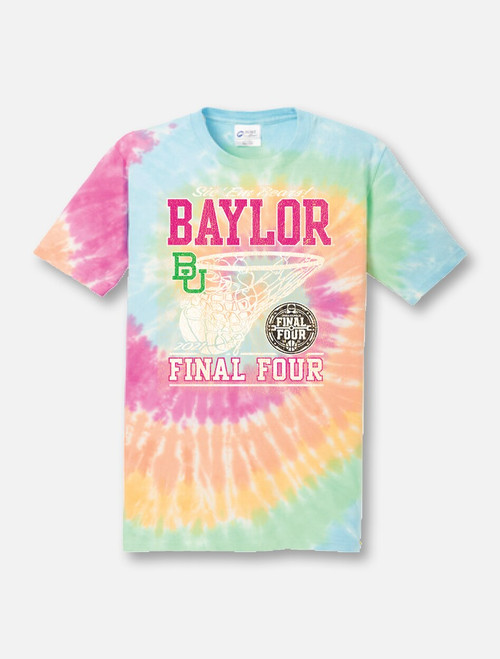 "Baylor Bears Final Four ""Pom Squad"" Tie-Dye T-shirt"