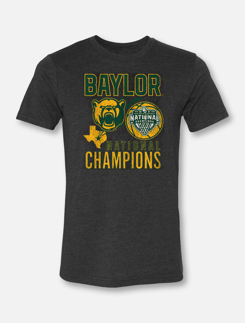 "Baylor Basketball National Champions ""One Shining Moment"" Soft Vintage T-Shirt"