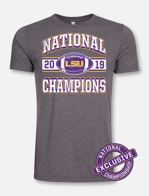 "LSU National Champion ""Vintage Football"" T-Shirt In Grey"