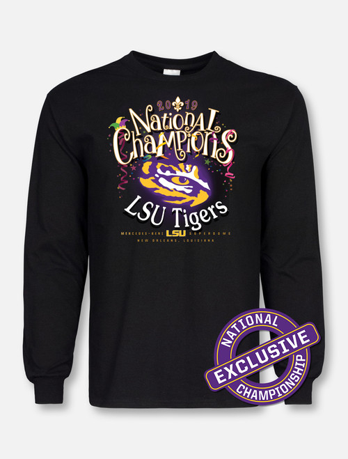 "LSU National Champion ""Mardi Gras Mambo"" Long-Sleeve T-Shirt In Black"