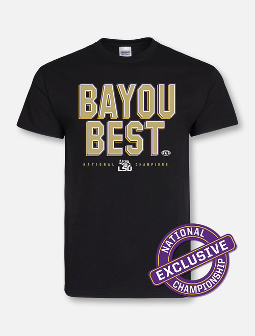 "LSU National Champion ""Bayou Best"" T-Shirt In Black"