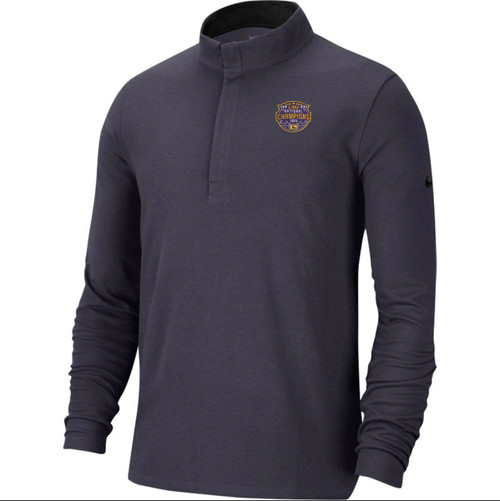 "Nike LSU National Champion Men's ""Victory"" Quarter-Zip Jacket in Dark Grey"