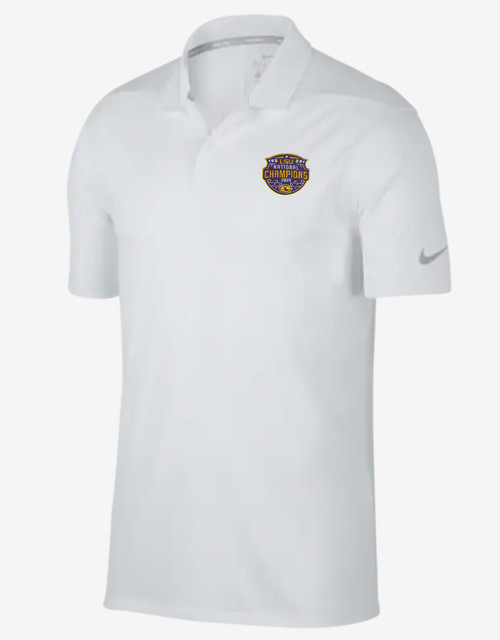 "Nike LSU National Champion Men's ""Victory"" Polo  In White"