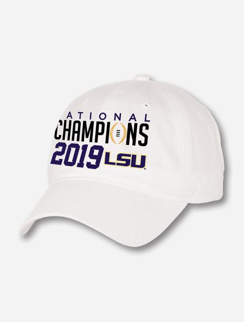 "LSU National Champion ""Scholarship"" Cap In White"