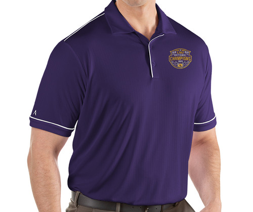 "Antigua LSU National Champion Men's ""Salute"" Polo  In Purple"