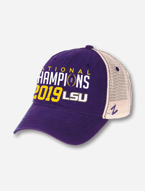 "LSU National Champion ""University"" Cap In Purple Mesh"