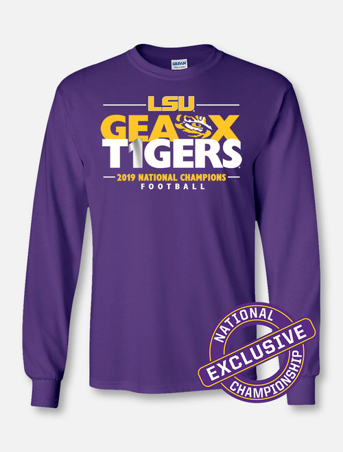 "LSU National Champion ""Locker Room"" Longsleeve T-Shirt In Purple"