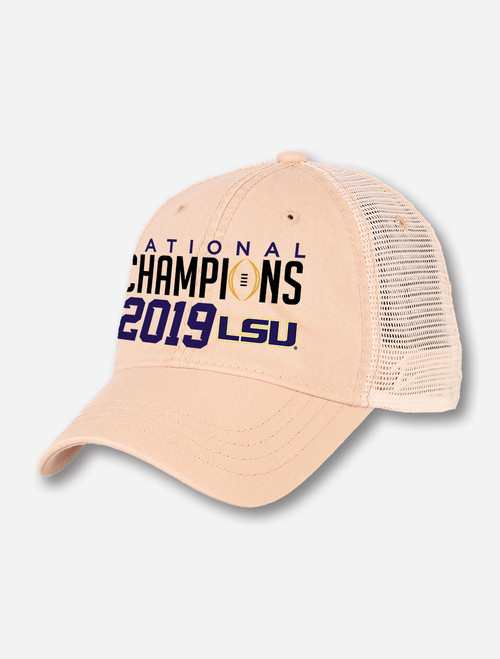 "LSU National Champion ""University"" Cap In Stone Mesh"