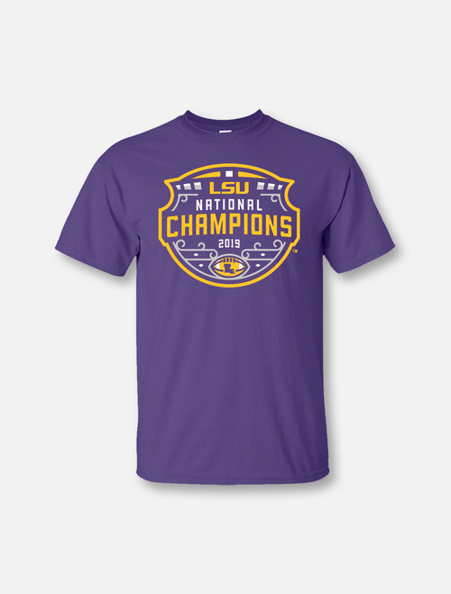 "LSU National Champion ""Original Logo"" T-Shirt In Purple"