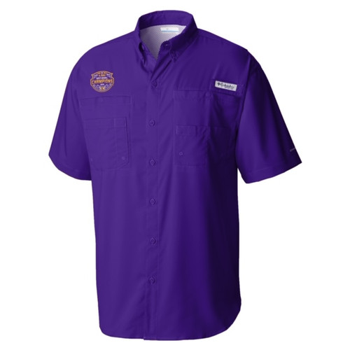 "Columbia LSU National Champion Men's ""Tamiami"" Polo In Purple"