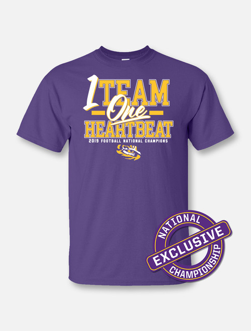 "LSU National Champion ""One Team"" T-Shirt In Purple"