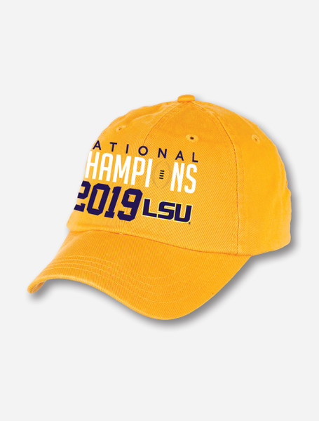 "LSU National Champion ""Scholarship"" Cap In Yellow"