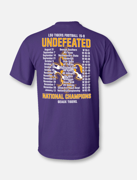 "Retro Brand LSU National Champion ""Score Shirt"" T-Shirt In Purple"