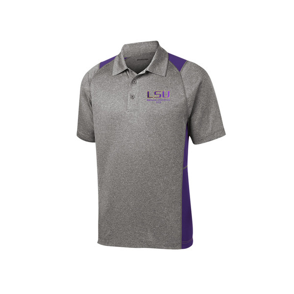 LSU National Champion Men's Twisted Grey Polo
