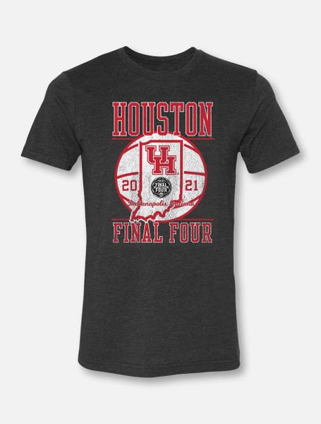 """Houston Cougars Final Four """"On The Road"""" Soft Vintage T-shirt"""