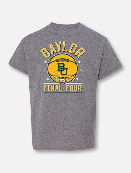 """Baylor Bears Final Four """"Courtside"""" Youth Grey T-shirt"""