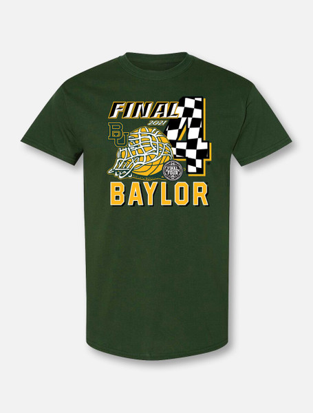 "Baylor Bears Final Four ""Race To Indy"" Green T-shirt"