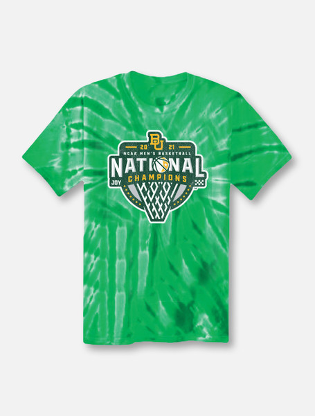 "Baylor Basketball National Champions ""Official Logo"" Tie Dye T-Shirt"
