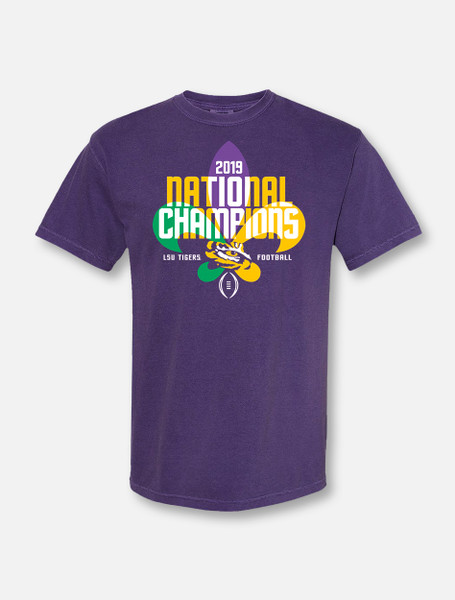 """LSU National Champion """"Pre-Party"""" T-Shirt In Purple"""