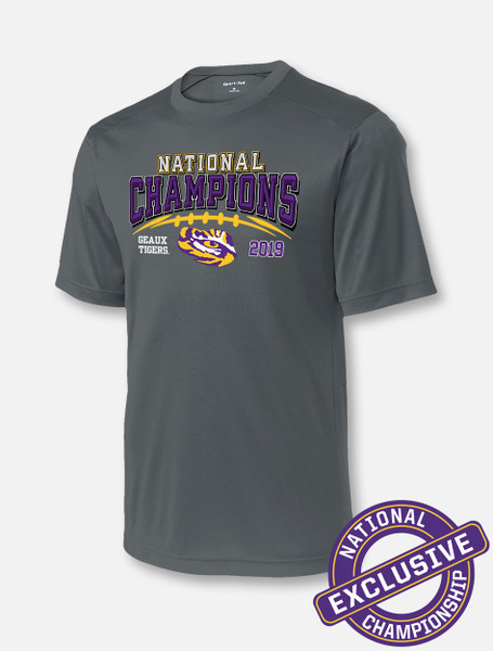 "LSU National Champion ""Stitches"" T-Shirt In Grey"