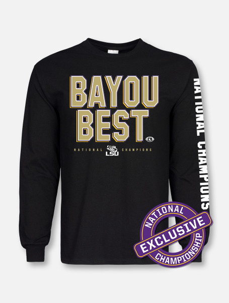 "LSU National Champion ""Bayou Best"" Long-Sleeve T-Shirt In Black"
