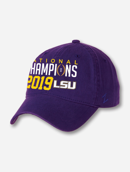"LSU National Champion ""Scholarship"" Cap In Purple"