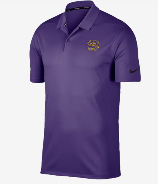"""Nike LSU National Champion Men's """"Victory"""" Polo  In Purple"""