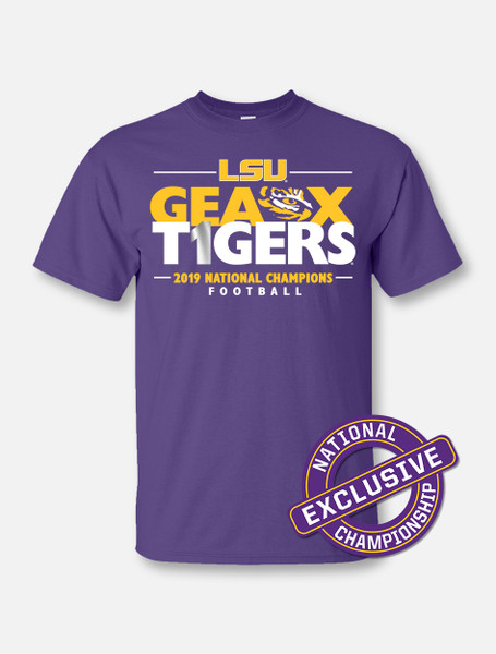 "LSU National Champion ""Locker Room"" T-Shirt In Purple"