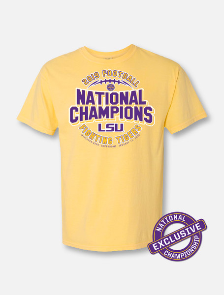 """LSU National Champion """"Ring Of Honor"""" T-Shirt In Yellow"""