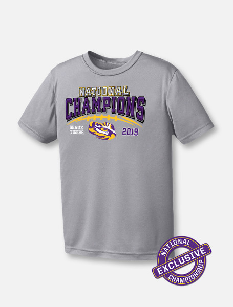 "LSU National Champion ""Stitches"" YOUTH T-shirt In Grey"