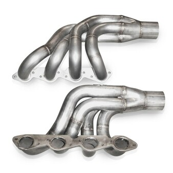 Stainless Works Big Block Chevy Turbo Headers on white background.