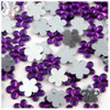 Rhinestones, Flatback, Flower, 15mm, 144-pc, Purple